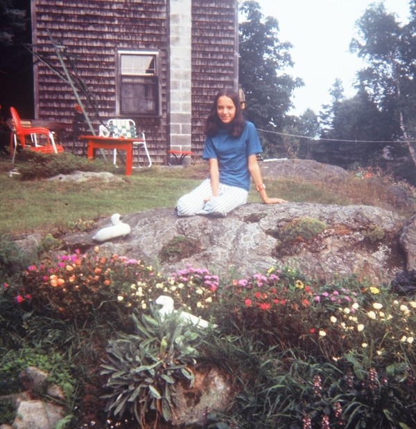 Marcia as a young girl in Maine during the 1970s.