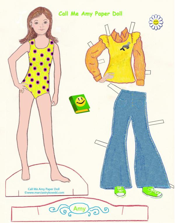 AMY PAPER DOLL