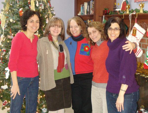 Fellow children's' writers and illustrators getting together for the holidays.