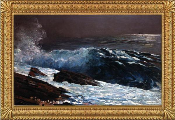This of course is NOT from the 70s, but is Winslow Homer's famous Sunlight on the Coast from 1890.