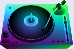 Music turntable