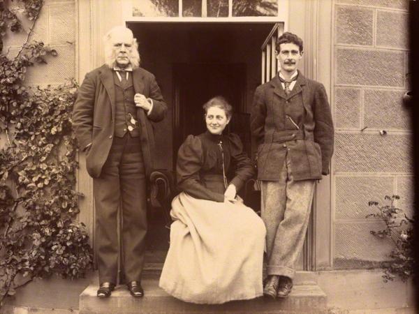 Rupert Potter (her father) Beatrix, Bertram Potter (her brother), 1894