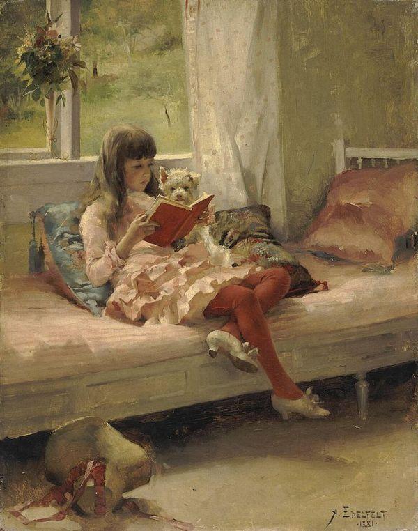 Albert_Edelfelt_-_Hyviä_ystäviä_(1881)