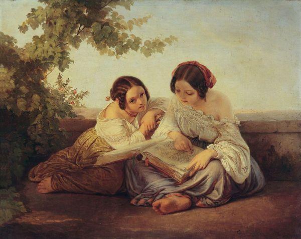 Alfred_von_Schüssler_Lesende_Mädchen 1849