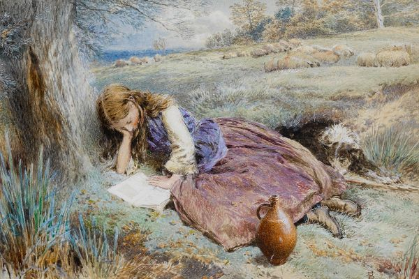 Myles_Birket_Foster_The_shepherdess c. 1899