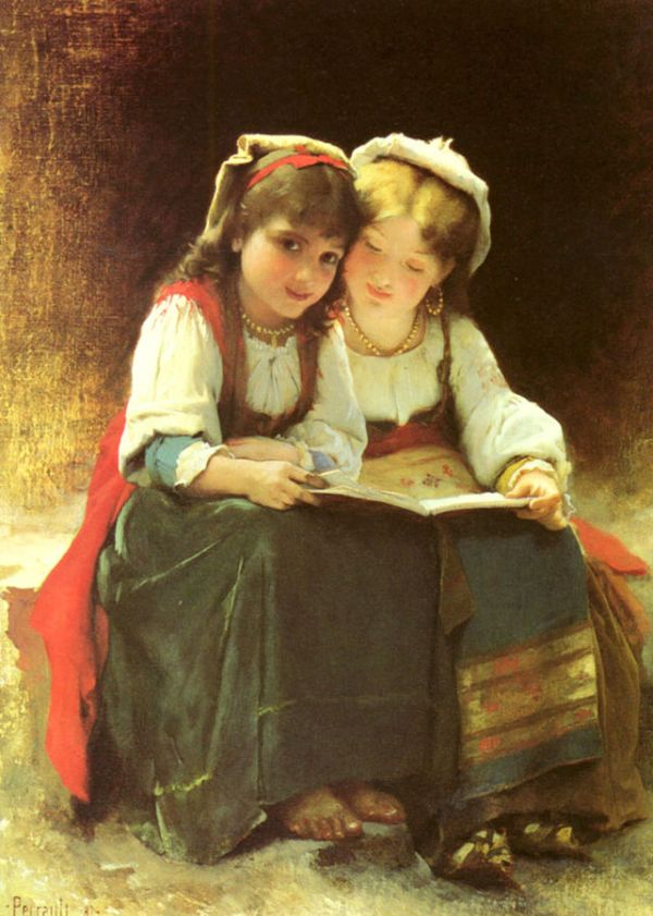 Perrault_Leon_Jean_An_Interesting_Story c. 1800s