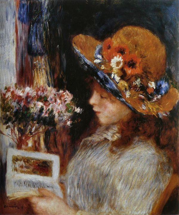 Pierre-Auguste_Renoir_-_Jeune_Fille_lisant 1886