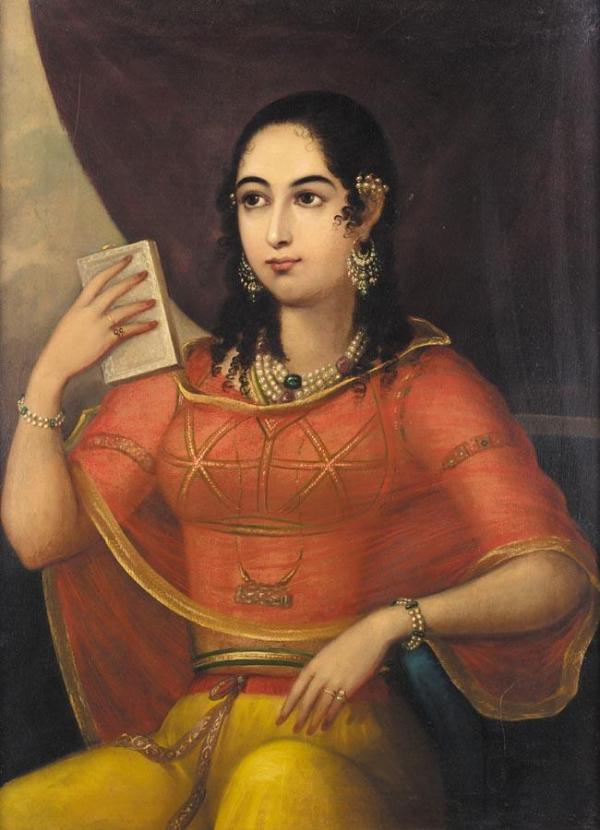 Portrait_of_a_Bibi,_Lucknow 1785