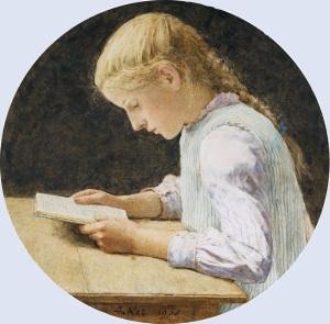 XX Albert_Anker_Lesendes_Mädchen 1905