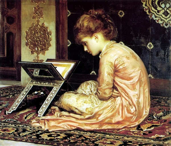 XX At_A_Reading_Desk_by_Frederic_Leighton 1877