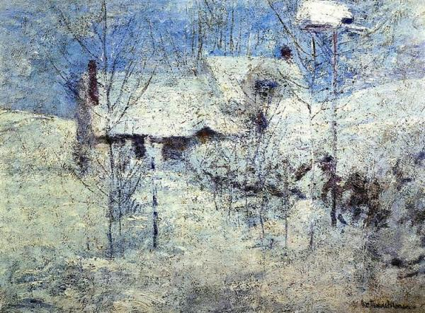 Snowbound c. 1900 by John Henry Twachtman