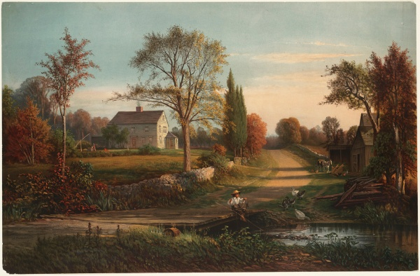 Whittier's Birthplace, by Thomas Hill 1829-1908